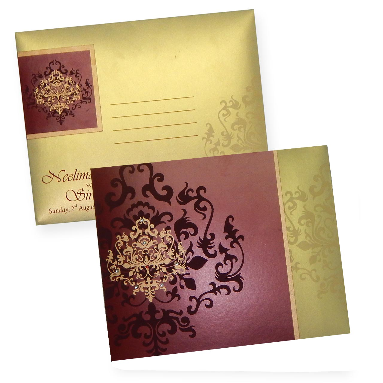 Sanjh Savera Cards Buy Online Indian Wedding Cards Indian